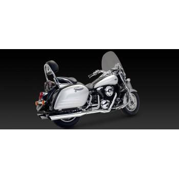 """V&H """"Bagger Slash-Cut Dual Exhaust (Kawasaki 1500/1600 Nomad '98-'08)"""