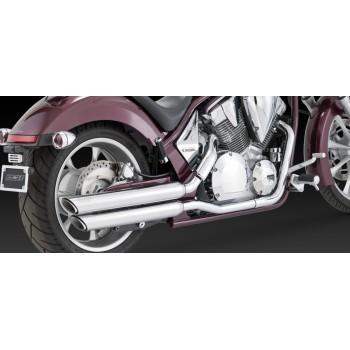 """Vance & Hines """"Twin Slash PC Slip-on"""" (Honda Fury '09-'15)"""