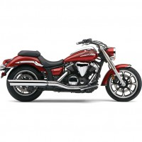 Cobra Slip-on Muffler, Scalloped tip (Yamaha XVS950 Midnightstar 09-13 / V-Star 950 09-13)