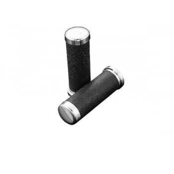HighwayHawk Leather Look Grips Ø25mm (without throttle assembly)