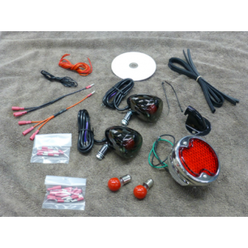 1932 Ford LED Rear Light Kit (Honda 750 Aero / Phantom)