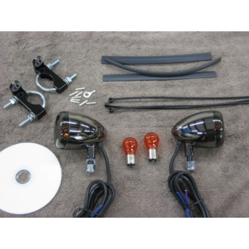 Black Nickel Front Light Kit (Honda Shadow 400 & 600)
