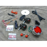 1932 Ford Rear Light Kit Black Nickel (Honda 600 Shadow)