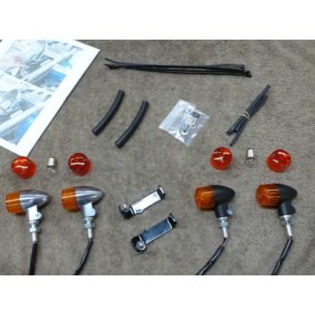 '29 Ford Front Light Kit Black (Kawasaki Vulcan 800)
