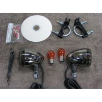 Front Light Kit Nickel (Yamaha XVS650 Dragstar Custom/V-Star 650 Custom)