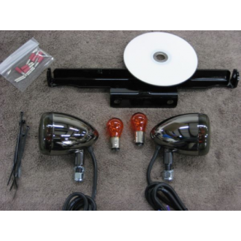 Front Light Kit Nickel (Yamaha XVS650 Dragstar Classic/V-Star 650 Classic)
