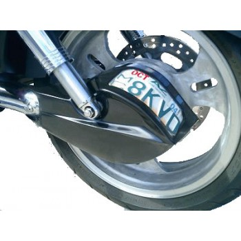 Shaft Drive Cover with License Plate Holder (Kawasaki Mean Streak)