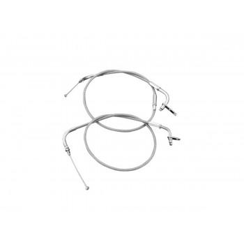 Throttle cable steel braided + 15 cm Yamaha XVS 1100 Drag Star