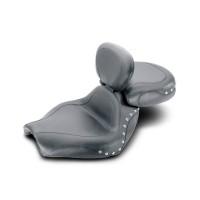 Mustang Sport Touring Studded Seat w. Driver Backrest (Suzuki VZ1600 Marauder 2004 & Boulevard M95 2005)