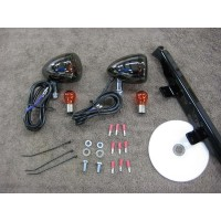 Black Nickel Front Light Kit (Honda Ace 750)