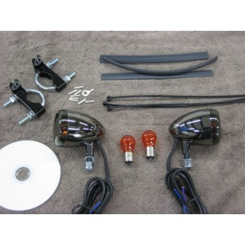 Black Nickel Front Light Kit (Honda Rebel 125 / 250)