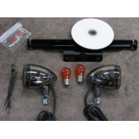 Black Nickel Front Light Kit (Suzuki Boulevard M50 800)