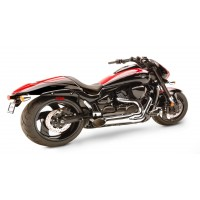 HardKrome Short Sideburner 2-1 Chrome (Suzuki M109R|M1800R '06-17)