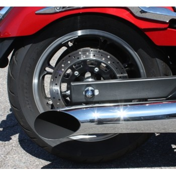 Chrome Axle Covers  (Yamaha XVS950 Midnightstar/V-Star 950)