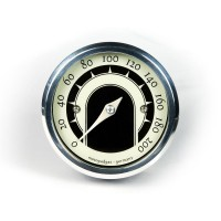 MST SPEEDSTER ANALOG SPEEDOMETER POLISHED
