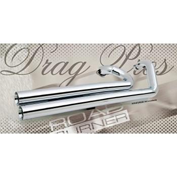 "RoadBurner 3"" Drag Pros, Chrome (Suzuki M109R '06- | M1800R '06-)"