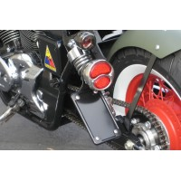 Vertical License/Tail Light Brackets (Honda 750 Spirit)