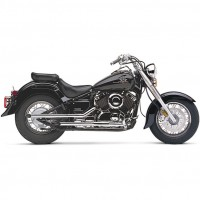 Cobra Slip-on Drag Pipes (Yamaha XVS1100 Dragstar 06-09 / V-Star 1100 06-09)