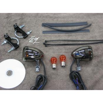 Black Nickel Front Light Kit (Honda Spirit 750)