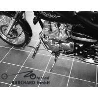 Forward Controls Kit 22 cm forward for Honda CA 125 Rebel - Honda CMX 250 Rebel TÜV - Chrome - Sundance Look Smooth Levers