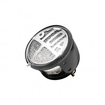 """Highway Hawk Taillight """"Stop"""" black LED with E-mark - complete with license plate light"""