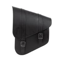Swingarm Bag Ledrie - real leather black with buckles - H = 16cm L = 29cm B = 37cm 9 Liter