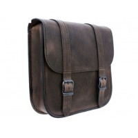 Ledrie Swingarm Bag Brown 7,5L Softail