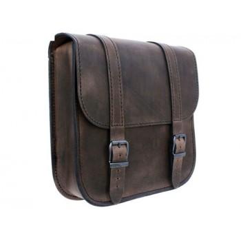 Ledrie Swingarm Bag Brown 7,5L Softail