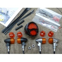 Rear Light Kit with Chrome Bullet Lights  (Suzuki Savage S40)