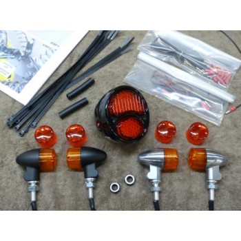 Rear Light Kit with Chrome Bullet Lights  (Suzuki Savage S40)