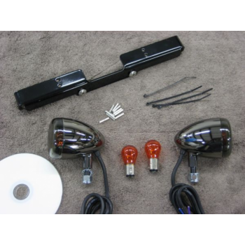 Black Nickel Front Light Kit (Honda Shadow 750 Aero & Phantom)