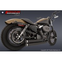 Freedom Performance AVGASSYSTEM SPORTSTER 2004- INDEPENDENT 2-2, BLACK CERAMIC