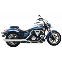 "Roadhouse 4"" SLIP-ON YAMAHA V-STAR 950, CHROME"