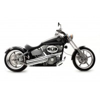 Roadhouse LIGHTNING SOFTAIL ROCKER, CHROME