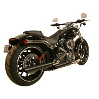 "Rush Performance LJUDDÄMPARE, SOFTAIL 2007-2017, SVART, SLASH DOWN, 1,75"" BAFFLE"