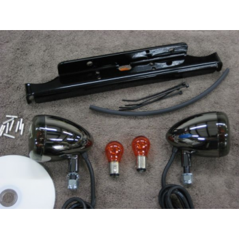 Black Nickel Front Light Kit (Suzuki 800 Boulevard)
