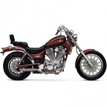 Cobra Slip-On Mufflers. Two-sided Slash-cut (Suzuki VS1400 Intruder 98-10 / S83 Boulevard 98-10)