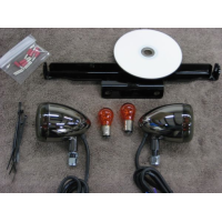 BCB Black Nickel Front Light Kit (Yamaha XVS1100 Dragstar Classic/V-Star 1100 Classic)