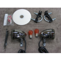 BCB Black Nickel Front Light Kit (Yamaha XVS1100 Dragstar Custom/V-Star 1100 Custom)