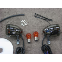 Black Nickel Front Light Kit (Kawasaki Vulcan 900 Classic)